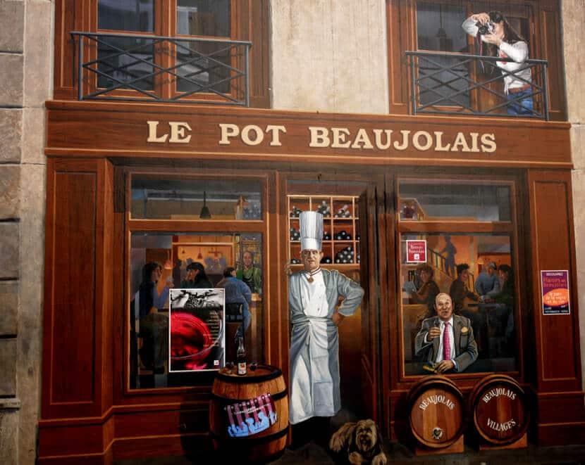 איור של השף פול בוקוז, ליון (צילום: יפה עירון-קוץ)