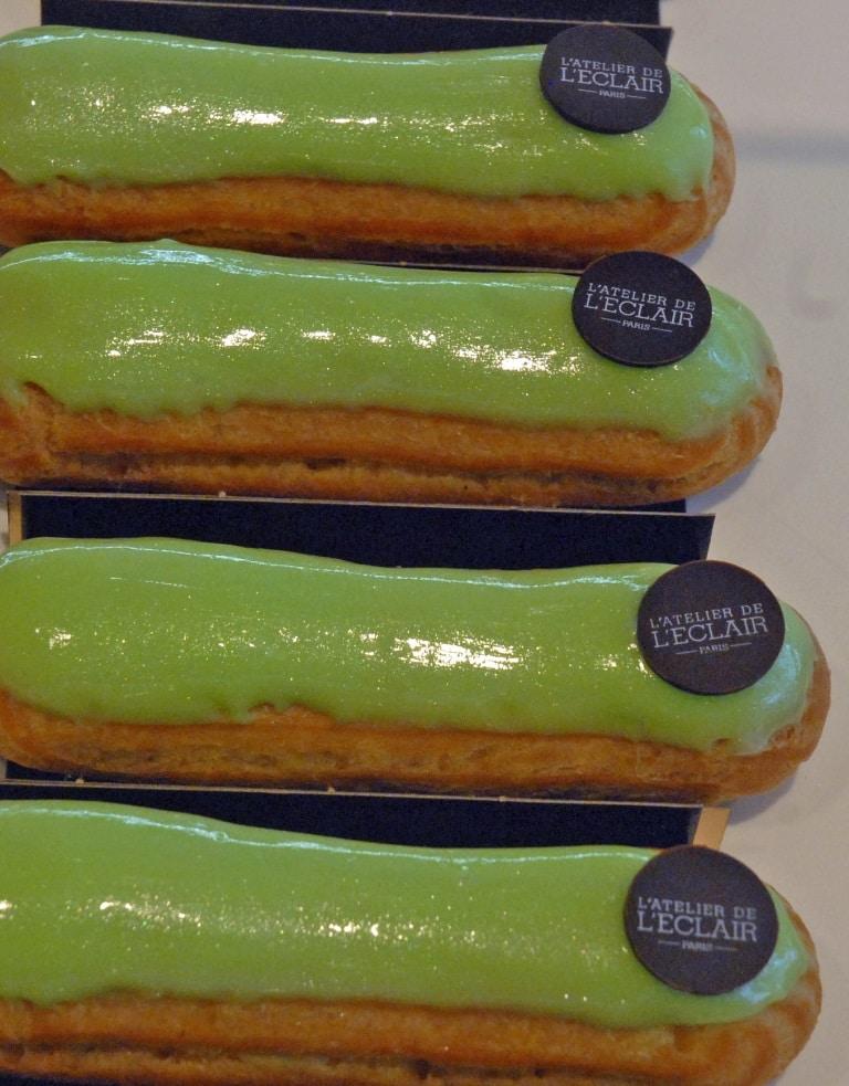אקלר עם זיגוג ירוק, אטלייה דה ל'אקלר