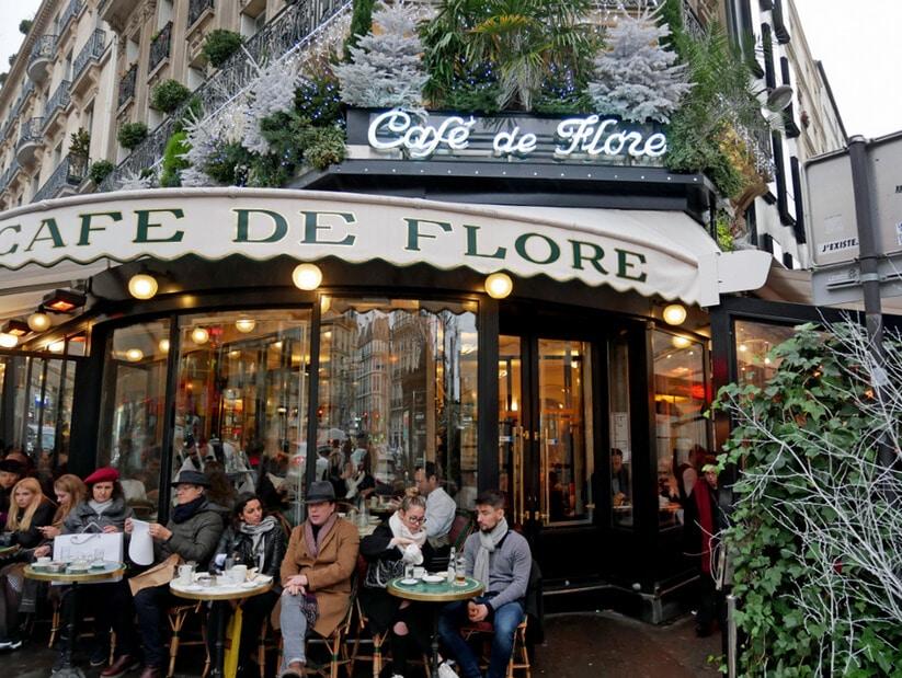 קפה דה פלור שבגדה השמאלית של פריז (צילום: יפה עירון-קוץ)