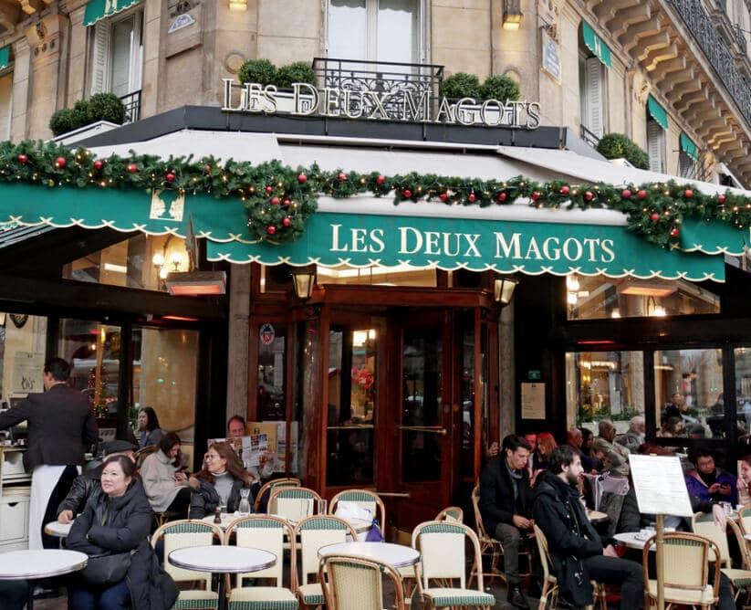 בית קפה לה דה מאגו שבגדה השמאלית של פריז (צילום: יפה עירון-קוץ)