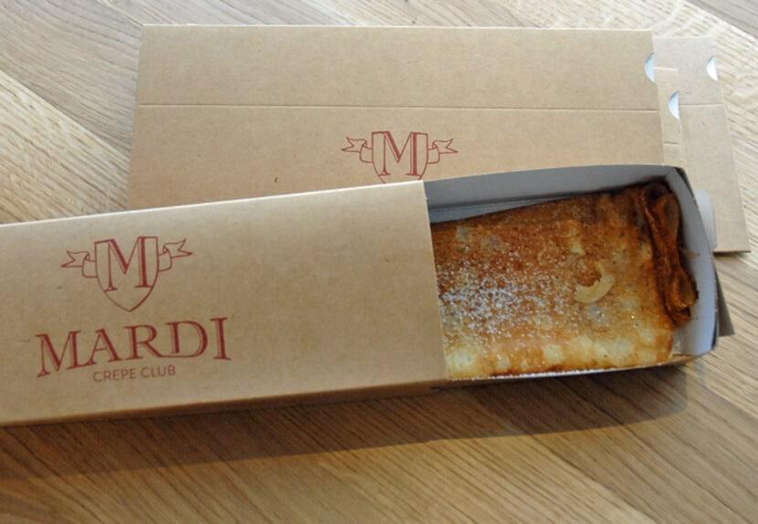 קרפ ארוז בקופסה של מארדי (צילום: יפה עירון קוץ)